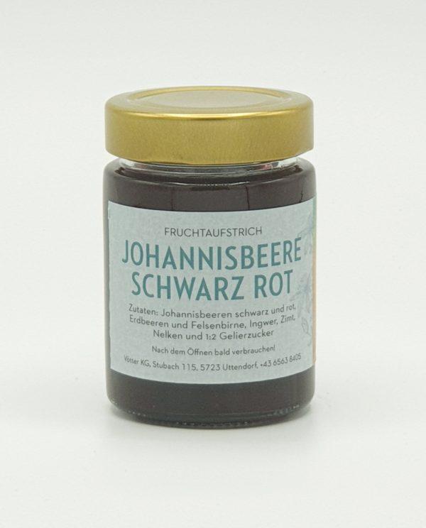 Johannisbeere schwarz rot